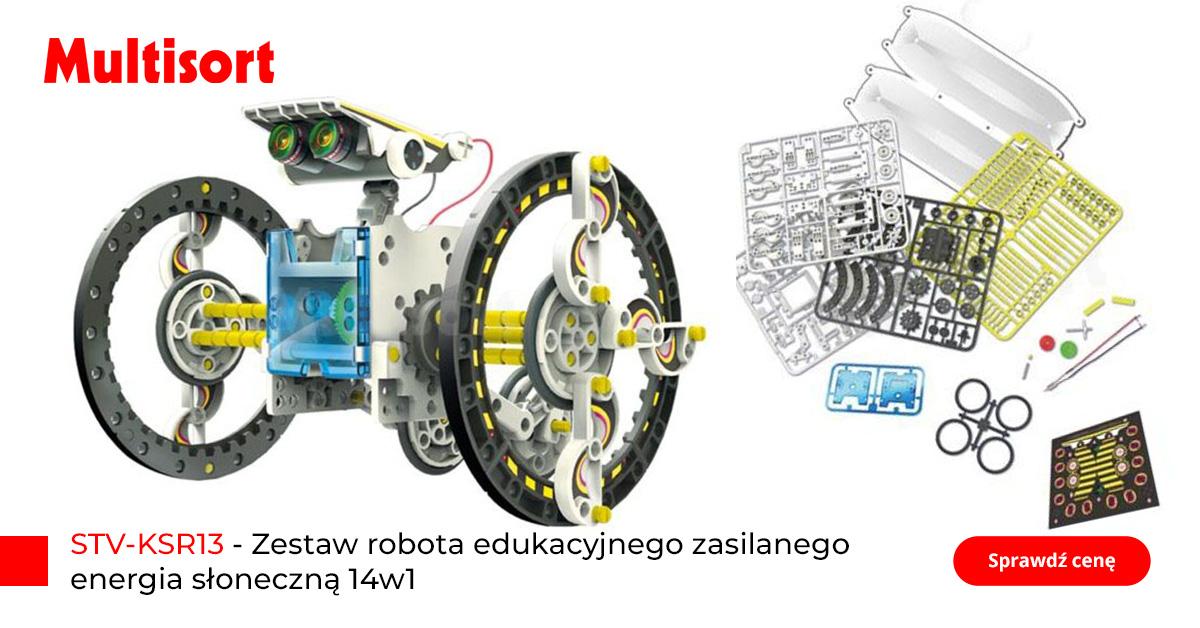 Robot edukacyjny dla dzieci zasilany energią słoneczną 14w1