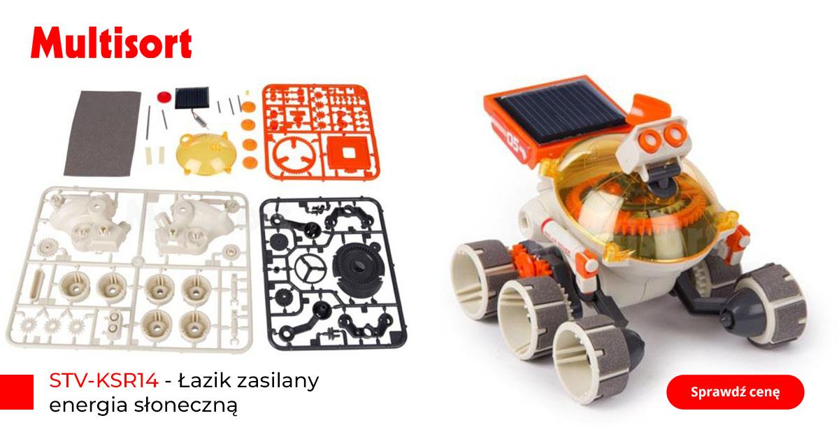 Robot dla dzieci, łazik zasilany energią słoneczną
